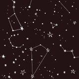在夜空样式的星 免版税库存照片