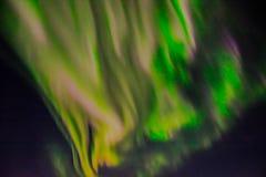 在夜空的北极光 图库摄影