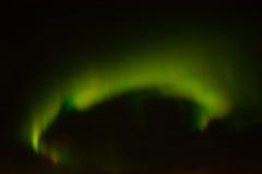 在夜空的北极光 库存图片