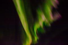 在夜空的北极光 免版税库存图片