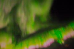 在夜空的北极光 免版税图库摄影
