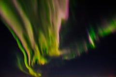 在夜空的北极光 库存照片