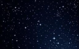 在夜空的星形 库存照片