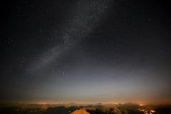 在夜空的星形 免版税图库摄影