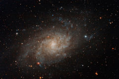 在夜空的星系 库存照片