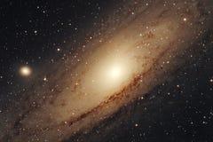 在夜空的星系 免版税库存图片