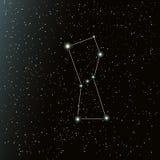 在夜空的猎户星座星座 免版税库存照片