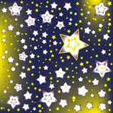 在夜空的背景星 免版税库存照片