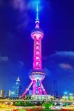 在夜间的东方珍珠塔 上海 免版税图库摄影