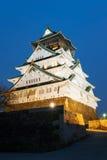 在夜间的姬路城堡 免版税库存照片