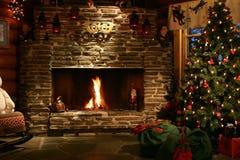 在大会办公处过帐圣诞老人里面的克&# 免版税库存照片