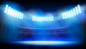 在大体育场的光 也corel凹道例证向量 免版税库存照片