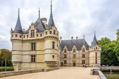 在大别墅Azay le Rideau的看法 图库摄影