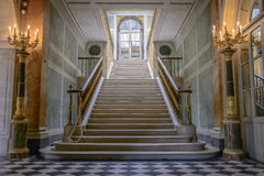 在大别墅de凡尔赛的台阶 免版税库存图片