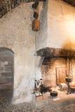 在大别墅de GruyA reses,瑞士里面 免版税库存照片