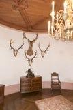在大别墅de GruyA reses,瑞士里面 免版税库存图片