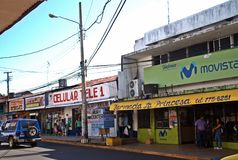 在大卫-巴拿马共和国的商业街III 库存照片