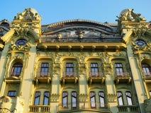 在大厦的华丽门面在傲德萨乌克兰 免版税库存图片