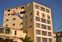在大厦的古巴历史 免版税图库摄影
