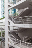在大厦的台阶 免版税库存图片