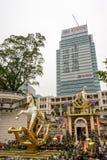 在大厦的圣诞节装饰在香港 库存图片