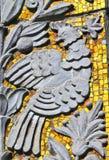 在大厦的墙壁上的装饰装饰品,莫斯科,俄罗斯 库存照片