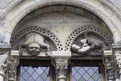 在大厦的拱道的风格化图 免版税库存图片