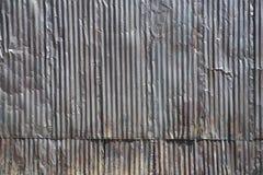 在大厦的波纹状的钢房屋板壁 库存图片