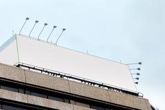 在大厦的空白的广告广告牌 库存照片