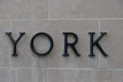 在大厦的约克标志在华盛顿特区 免版税库存图片