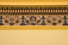 在大厦的装饰在Zsolnay中心,佩奇 免版税库存照片