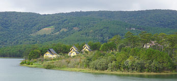 在大叻村庄的美好的风景 图库摄影