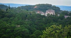 在大叻高地的山风景在越南 免版税库存图片
