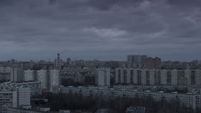 在大城市timelapse的日落 股票录像