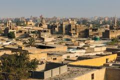 在大墓地的看法在开罗 库存照片
