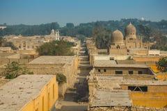 在大墓地的看法在开罗 免版税库存图片