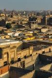 在大墓地的看法在开罗 免版税图库摄影