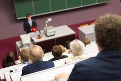 在大学的演讲 免版税图库摄影