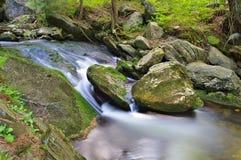 在大山的小河 免版税图库摄影