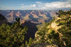在大峡谷下午,美国的看法 库存图片