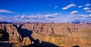 在大峡谷亚利桑那的全景 免版税库存图片