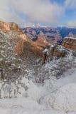 在大峡谷南外缘的冬天风景 免版税库存照片