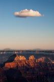 在大峡谷的云彩 免版税库存照片
