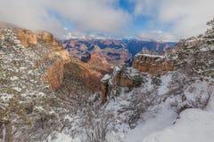 在大峡谷的冬天雪 库存照片