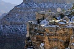 在大峡谷的冬天 免版税库存照片