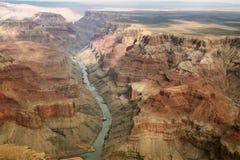 在大峡谷的印象深刻的看法 图库摄影