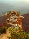 在大峡谷的峭壁 免版税库存图片
