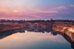 在大峡谷的日落在清迈 免版税库存图片