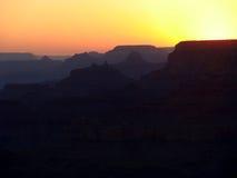 在大峡谷的日落 免版税库存图片