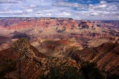 在大峡谷的看法 库存图片